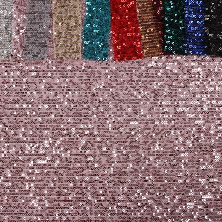 Multi Warna Tekstil Kain Bahan Payet Kain Mesh Payet Kain untuk Gaun