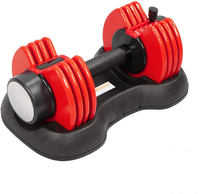 Dumbbells Fitness Adjustable Dumbbell 25 Lbs Weight Set for Bodybuilding Fitness Weight Lifting Training Home Gym Equipment