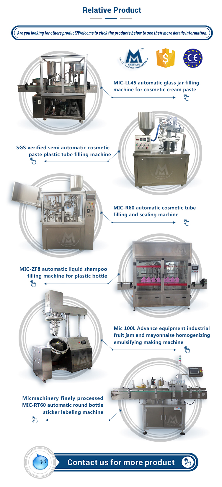 MIC-R45 automatic toothpaste tube filling sealing machine