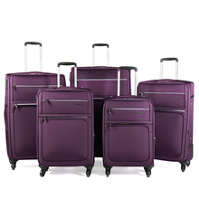6 pieces 19'' 23'' 26'' travel trolley luggage  leather suitcase set with cosmetic bag