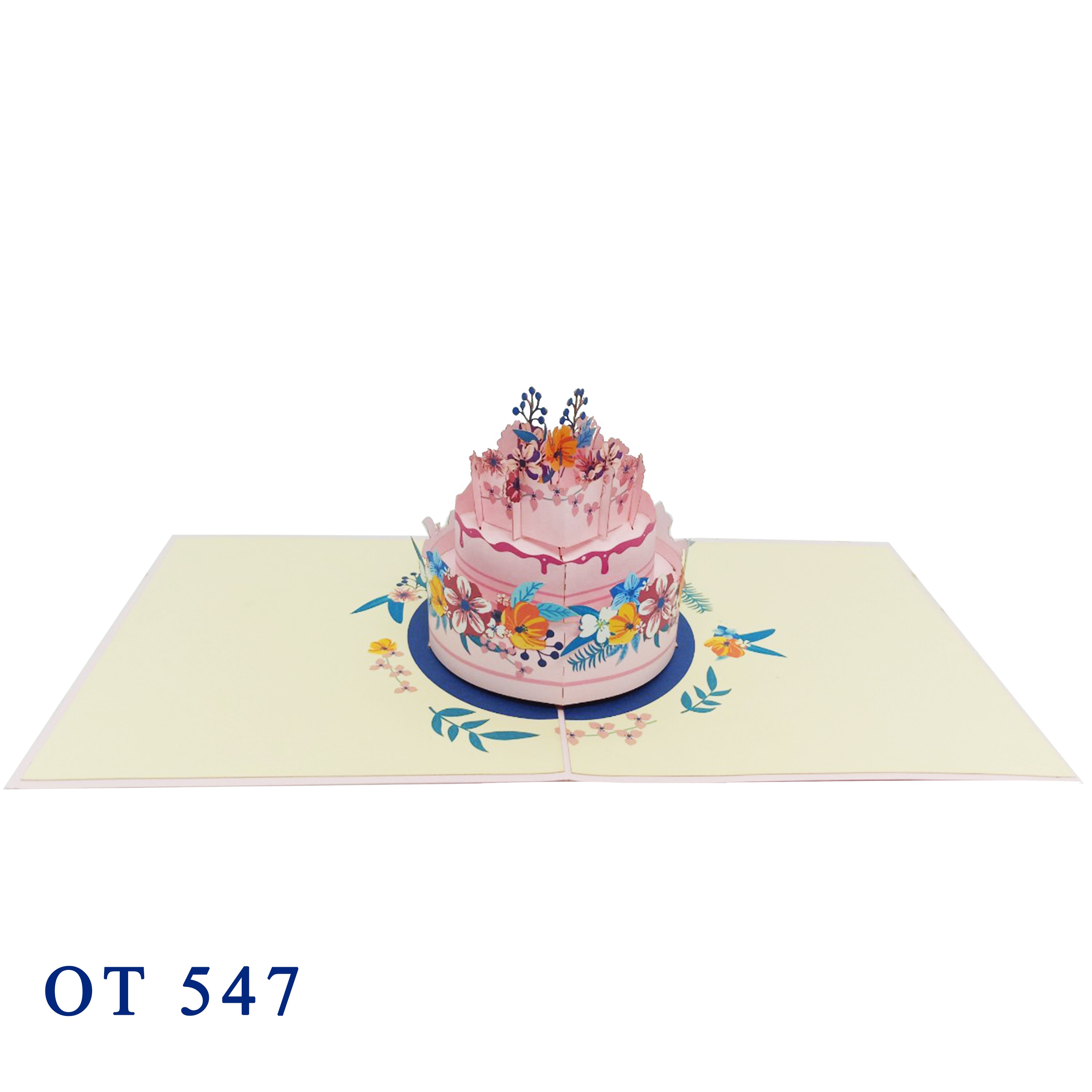The Lovely Rabbits  3D Pop up Greeting Kirigami card  Vietnam Wholesale Handmade Customizable Design