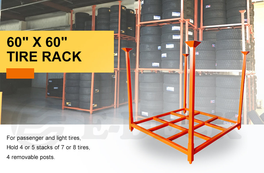 Factory Direct Warehouse Heavy Duty Foldable Durable Stacking Steel Fabric Tire Storage Pallet Metal Stillage Racking