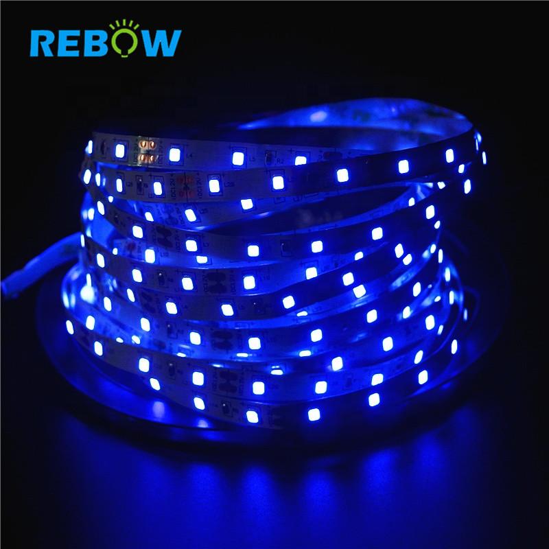 Wholesale IP20 DC12V 16.4ft 5M UV 395-405nm Ultraviolet led strip 5050 SMD Purple 300 LED Flex Strip Light