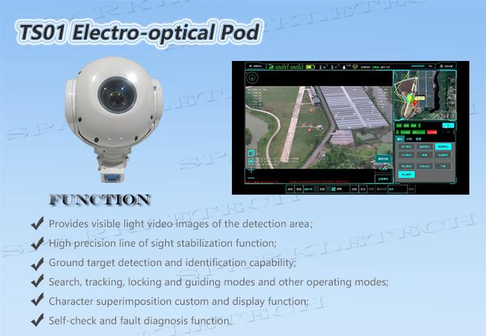 TS01 электрооптического стручка 30x высокой четкости видимый свет Бла (беспилотный летательный аппарат 3-осевой карданный стабилизатор для зум-объектива