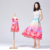 Color flowers parent-child dress summer new mother-child dress sleeveless cute skirt
