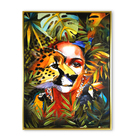 Home goods canvas art paintings wild woman with forest colorful wall pictures oil art painting