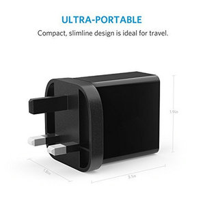 QC 3.0 Anker 18W 3Amp UK Plug  USB Wall Charger For Mobile Phone Latop