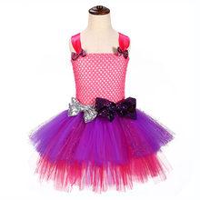 Lol/вечерние платья для девочек на день рождения детское платье-пачка из тюля с блестками Vestido Lol, одежда для девочек, рождественское платье + п...(Китай)