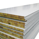Custom Cheap Wall Metal Rockwool Sandwich Roof Panel for Clean Room Rock Wool