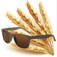 wheat straw frame 100% biodegradable recycled sunglasses promotion sun glasses custom logo