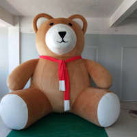 2018 Hot sale giant inflatable teddy bear for advertising