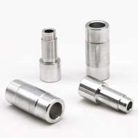 OEM CNC turning machining metal stainless steel sleeve and aluminum insert bushing
