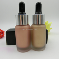 OEM New organic products korean cosmetics face 5 in 1 highlighter 3 colors bottle all over body highlighters