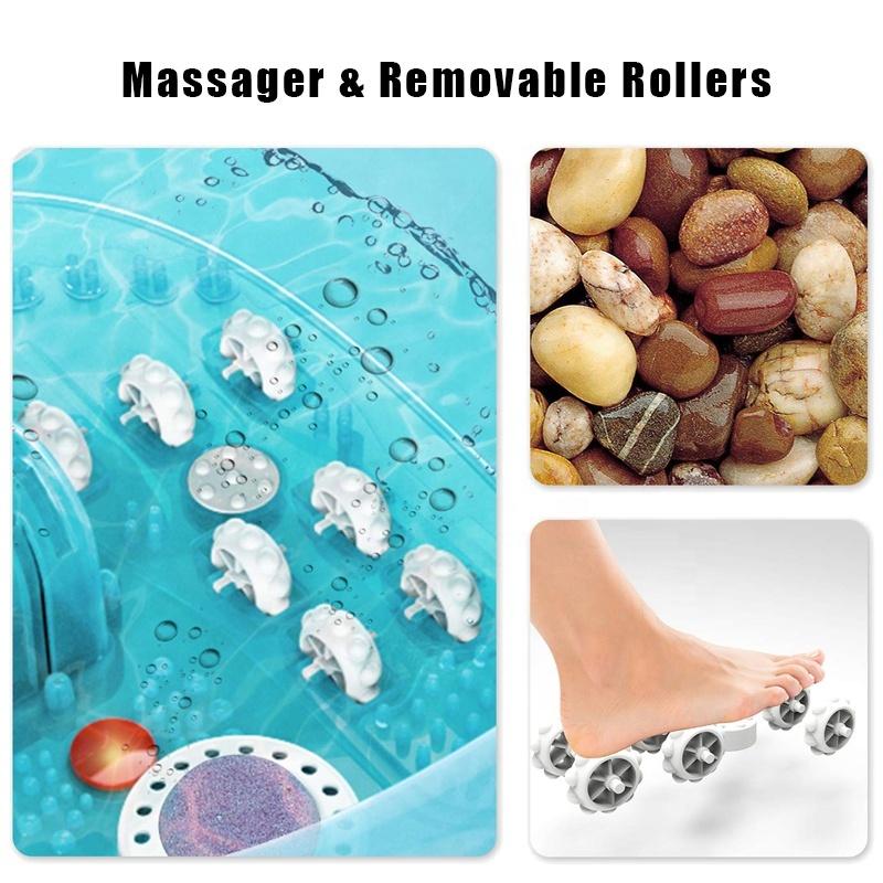 OEM&ODM Mewest Pedicure Instant Heat Bubble Foot Soak Bath Massager for Stress Relief Spa