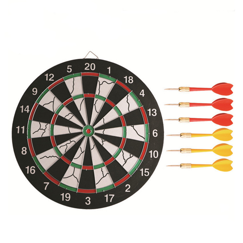 17 inch Double Sided Dart Board Set Indoor/Outdoor Used in Professional DartsCompetitions and Home