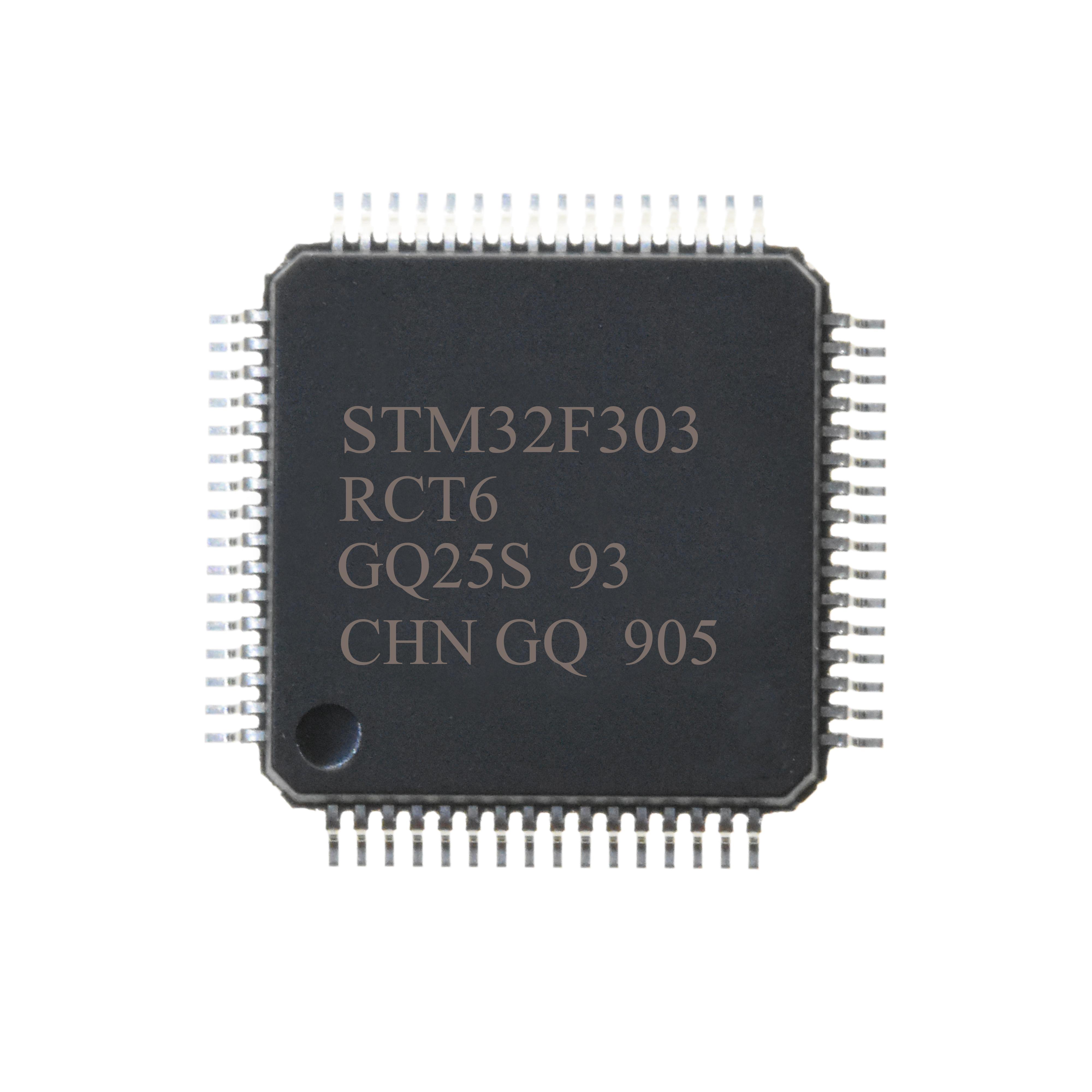 Stm32f303rct6 Mcu 32-битный Процессор Arm Cortex M4 Risc 256kb Флэш-2,5 V/3,3 V Четырёхъядерный 64-разрядный Процессор Lqfp Лоток - Buy Stm32f303rct6 Product on Alibaba.com