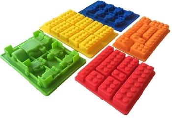 5PCS Customs Building Bricks Ice Trays 10 Silicone Ice Mold Robot Chocolate Maker Jelly Pan Candy Logo Lovers Molds
