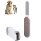 Stocked Dog Pet Brush Remove Double-Sided Dog Fur Lint Pet Hair Remover Brush with Self-Cleaning Base