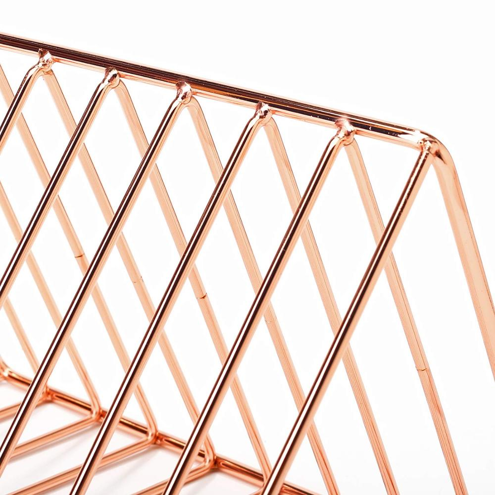office school table triangle shape rose gold paper letter holder