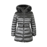 Grey Long Parka Wholesale Ladies Women Softshell Jacket