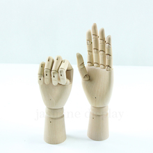 Glove Display Model 12 inch Mannequins Activity Joint Manikins Wood Hands