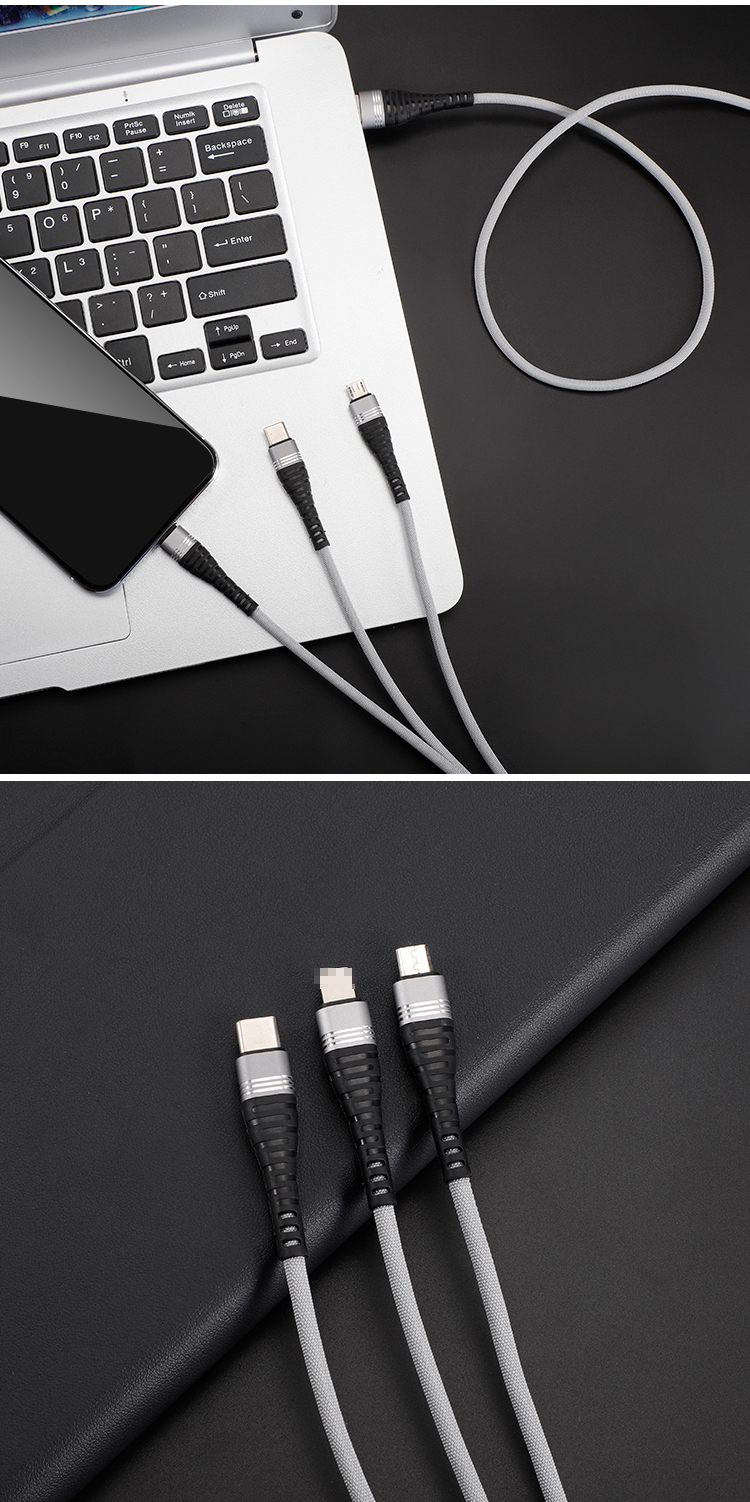 High Quality 2.4A White TPE Fast Charging USB Cable For S8 S9 S10 Plus Lite Type C cable