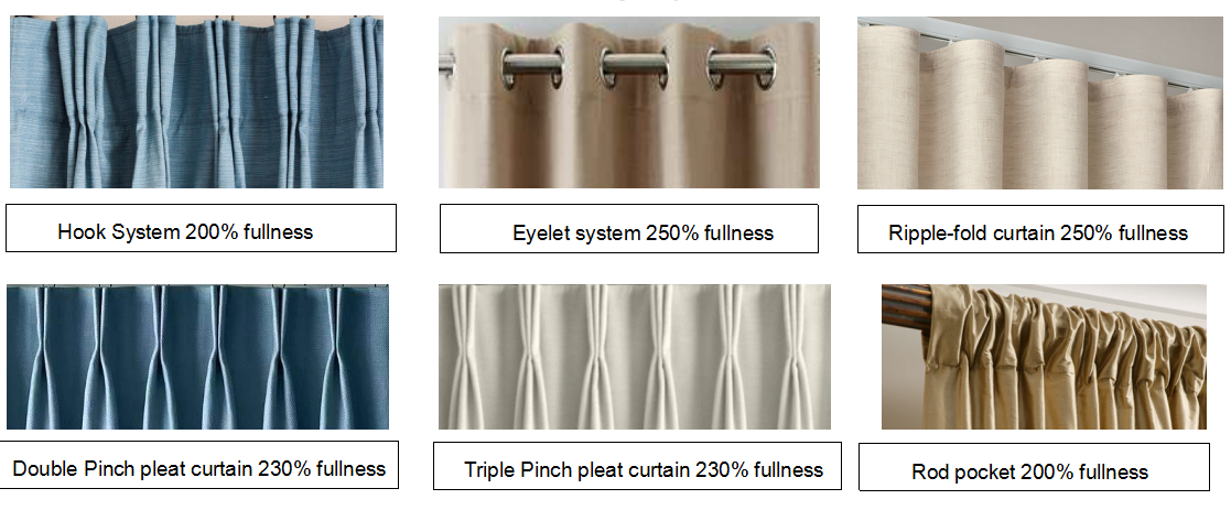 Fashion 100% plain polyester decorative hotel flame retardant curtain