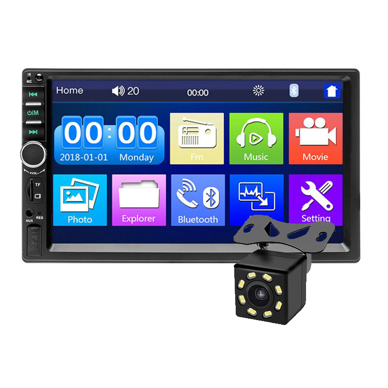 Autoradio 2 din Coche Stereo Car Radio 7018B 7&quot; HD Touch Screen Car Audio Bluetooth Rear View Camera MP5 Multimedia <strong>Player</strong>