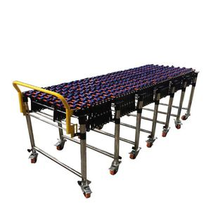 Customizable gravity flexible roller conveyor for cargo handling