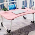 simple folding study desk wood laptop desk small table for bed