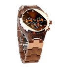 ROYAL BEAR 2020 5AT waterproof Sapphire Crystal luxury casual skeleton couple automatic mechanical wood wrist watch for lovers