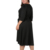Elegant Pure Color V Neck Long Sleeve High Waist Tie Plus Size Women Clothing Dress
