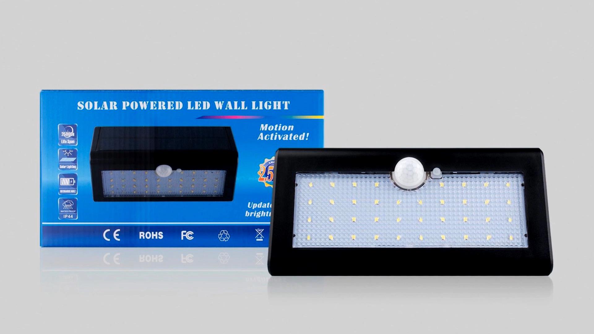 Yeni su geçirmez LED GÜNEŞ PANELI güç PIR hareket sensörü güneş bahçe ışıkları açık
