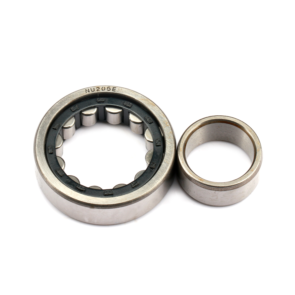 bore size 25mm NU Cylindrical Roller Bearings nylon brass cage NU205EM NU205E