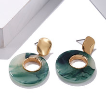 2020 круглые серьги для женщин, модные украшения золотого цвета(Китай)