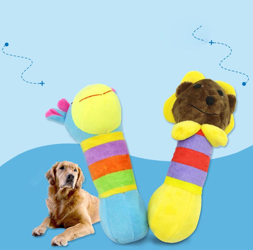 Pet giraffa animale di pezza modello animale cane morso-resistente giocattolo