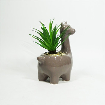 Animal Flower Pot Ceramic Succulent Cactus Planter Pot Lama Vase