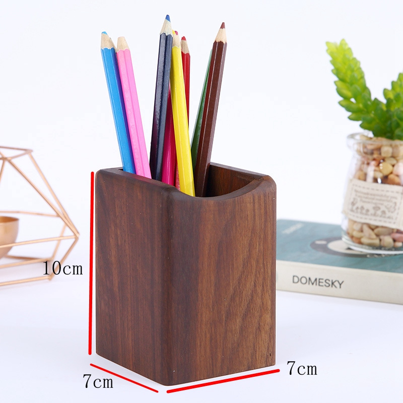 Hot sales custom logo wooden Pen  holder for wholesales