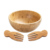 Bamboo Salad Bowl with 2 Serving Utensils