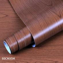ПВХ деревянные обои для кухонных пленок восстановленная Одежда Шкаф Дверь мебель для дома офиса Наклейка на стену #9(Китай)