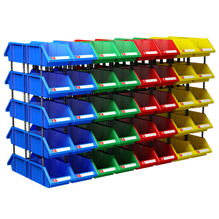 Green Pack of 6 10 3//4 x 8 1//4 x 7 BINP1087G Aviditi Plastic Stack /& Hang Bin Boxes