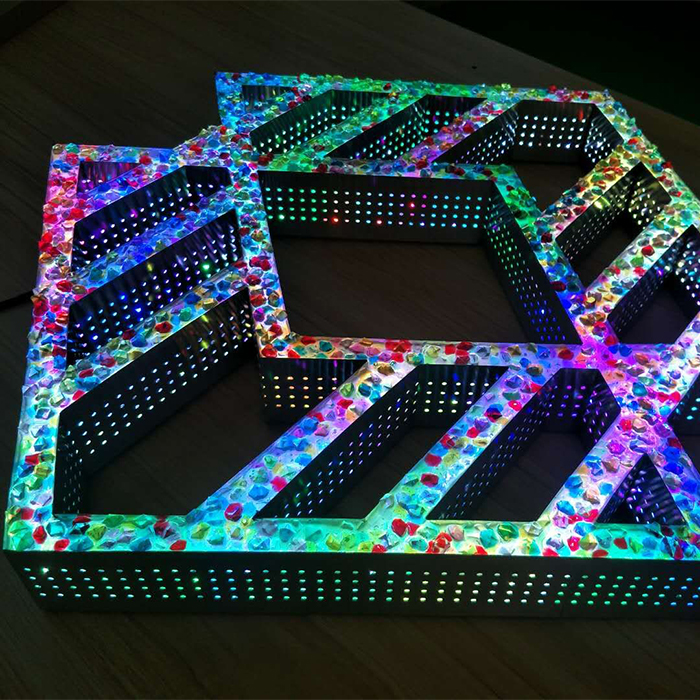 Popular Acrylic Type 3D Lighting Signage Front Rgb Led Letter Sign for Store