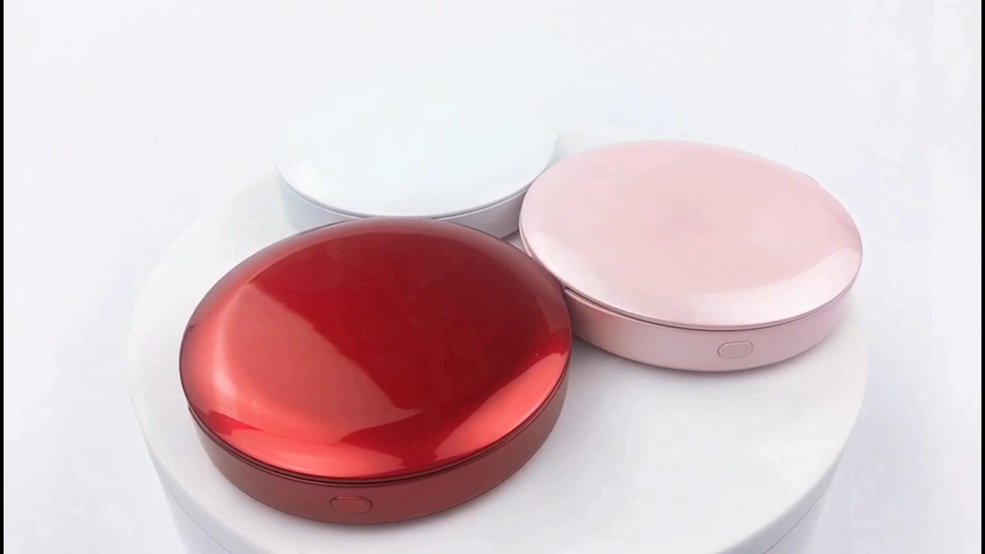 Chargeur de Banque De puissance Cosmétique Pliant Poche Compacte Portable avec Lumières LED Outil De Maquillage Femmes Dames Miroir De Maquillage Éclairé