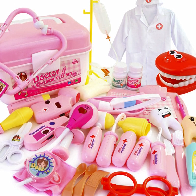 Children's Medical Doctor Toy Set Kids Play House Storage Box Simulation Boy And Girl Injection Toy