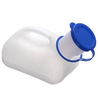 Hot sale plastic chamber pot,pee bottle,male urinal with cover DL312
