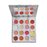 16 colors revolution big eyeshadow palette cosmetics private label beauty glazed