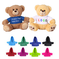 Promotional Gifts Kids Plush Bear Soft Toys Branded Custom Logo Teddy Bear With T-shirt Wholesale Factory Teddy Bear