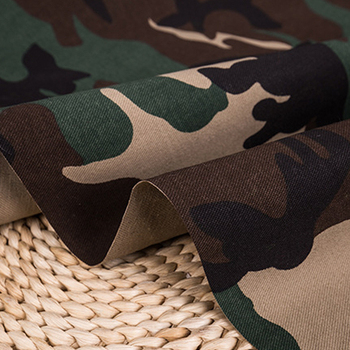 Plain dyed polyester cotton camouflage printed army camo uniform fabric for military