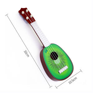 Wholesale 32cm mini fruit guitar baby musical instrument ukulele gifts educational toys for sale for kids