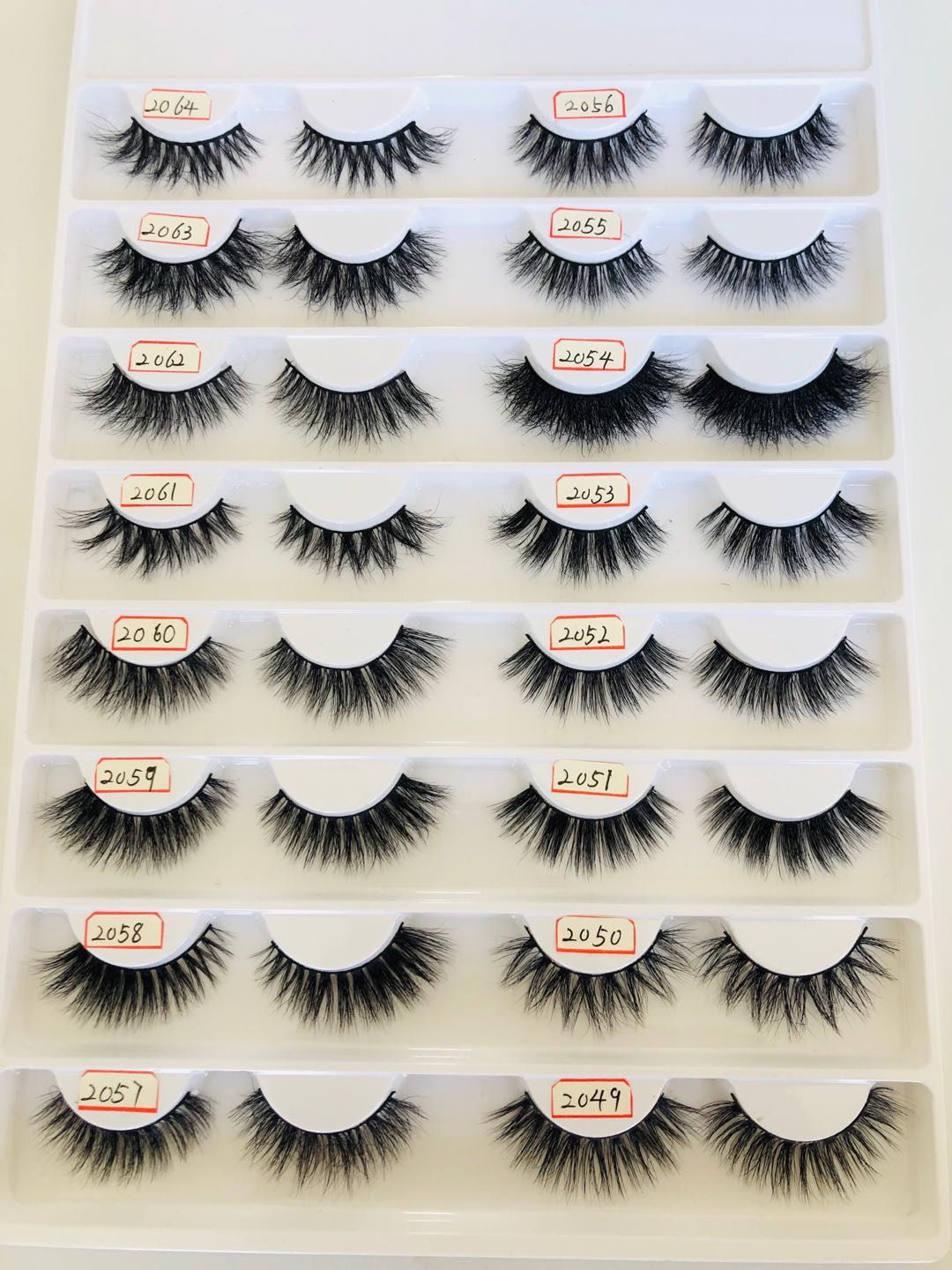 2019 Hot Sale Individual 100% 3D Mink False Eyelashes Handicraft